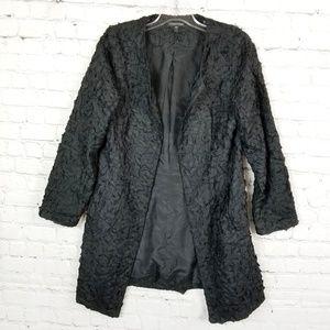 Eileen Fisher|Raw Silk Crinkly Jacket